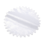 B1259WH Starburst Rounds: 22.5cm: Pack of 100: White